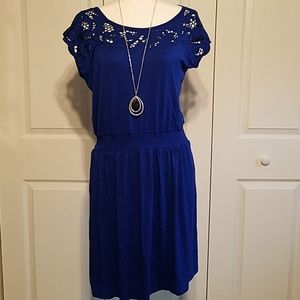 NWT Apt 9 Blue Crochet Top Dress